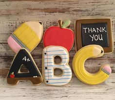 Profesor apreciación galletas ABC 1/2 por MJCookiesConfections