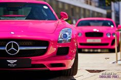 Mercedes Benz & Bentley Pink  ☆ Girly Cars for Female Drivers! Love Pink Cars ♥ It's the dream car for every girl ALL THINGS PINK!