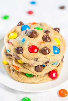 The Best Soft and Chewy M&M'S Cookies - by @averie