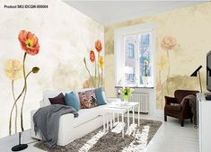 American pastoral fresh entire room wallpaper wall mural decal IDCQW-000004