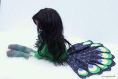 ooak peacock doll by snugabud