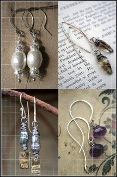 Ear wire tutorial: Ear wires are very simple and quick to make and, creating your own will give you much more versatility when it comes to shape and size.