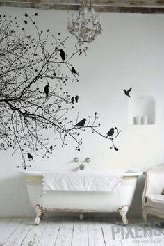 Un bain aux petits oiseaux !
