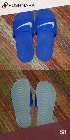 cdd9c23b83d75 Nike Benassi JD slide sandals Nike Benassi JD slide sandals. Blue with  light gre -