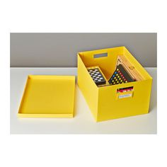 IKEA offers everything from living room furniture to mattresses and bedroom furniture so that you can design your life at home. Check out our furniture and home furnishings! Box With Lid, Cube, Ikea, Shelves, Yellow, Matching Set, Room, Sassy, Entryway