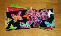 Bright Colorful Butterfly Burp Cloth Set of 3 by Amandamaetucker, $15.00