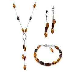 Sterling Silver Multicolor Amber Caramel Kiss Collection Bracelet Earrings and Necklace Set, 18.5 GRACIANA,http://www.amazon.com/dp/B007I77KGK/ref=cm_sw_r_pi_dp_.I-Nrb466DE242BA