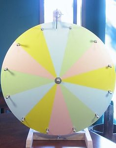 """Best-Looking Longest-Lasting 20"""" Dry Erase Color Prize Wheel with Free Template"""