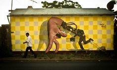 Ron Martin - Street Art - Sapro A Contramano #Surreal