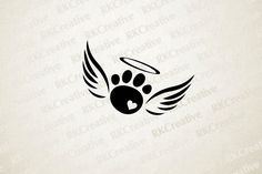 This rainbow bridge pet loss paw print with angel wings decal is perfect for any. - This rainbow bridge pet loss paw print with angel wings decal is perfect for any animal lover that - Cute Tattoos, Body Art Tattoos, Small Tattoos, Tattoos Skull, Tatoos, Tattoos For Pets, Diy Tattoo, Tattoo Life, Tattoo Ideas
