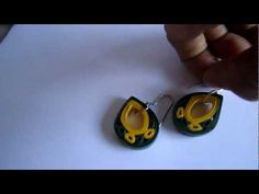 Paper Jewelry - Handmade Quilling Earrings (Quilled Drops)