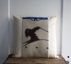 handmade wool pillow cover by littlebyrdvintage on Etsy, $36.00