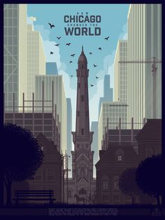 How Chicago Changed the World sold by Justin Santora. Shop more products from Justin Santora on Storenvy, the home of independent small businesses all over the world. Gig Poster, Poster Prints, Building Silhouette, Alex Pardee, Indie, Ace Books, Arkham City, Pop Culture Art, My Kind Of Town