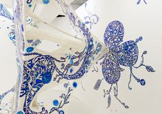 Hand painted installation by Yusuke Asai