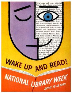 Wake Up and Read, National Library Week, 1959, ALA