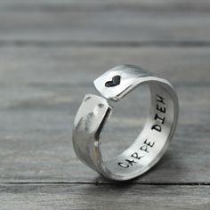 Carpe Diem Mantra Ring