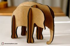 Cute elephant piece . . . I wonder if I could make my own version.