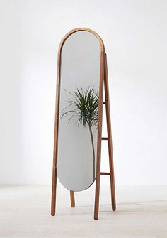 Woodlyn Standing Storage Mirror from Urban Outfitters