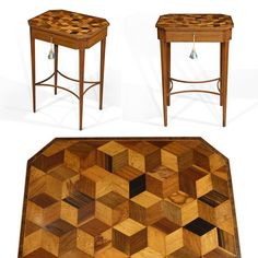 Just in - stunning Sheraton period parquetry work table - kingwood, rosewood, maple, boxwood, coromandel AND ebony. Such a beauty! 🔎search for stock no. 5012🔍  #antique #antiques #antique #antiqueshop #petworth #sussex #lapada #pada #parquetry #marquetry #inlay #design #furniture #restoration #cabinetmaking #history #georgian #interiors #interiordesign #photography #luxury #decor #furnishings #sheraton #georgeiii #kingwood #rosewood #geometric #mcescher #table