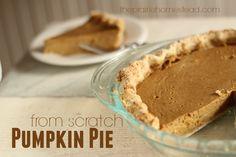 Pumpkin Pie Recipe with Honey | The Prairie Homestead