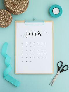 Kalendár na rok 2018 - Truly, Emily Washi, Handmade, Hand Made, Handarbeit