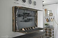 Secret DIY Gun Compartment Hides Behind a Mirror - PopularMechanics.com