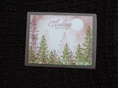 Thinking of You hand stamped card by ArtisticdesignsbyKim on Etsy, $3.00