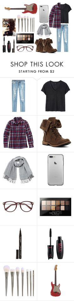 """""""Rock on"""" by marisa-heine ❤ liked on Polyvore featuring True Religion, Deby Debo, Patagonia, Vero Moda, Maybelline, Smith & Cult and Relic"""