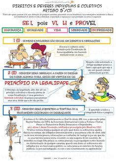 """Venha aprender sobre Direitos e Garantias Fundamentais com os mapas mentais e esquemas da """"Entendeu Direito ou Quer que Desenhe?""""!"""