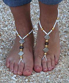This White Leighton Peighton Barefoot Sandal is perfect! #zulilyfinds