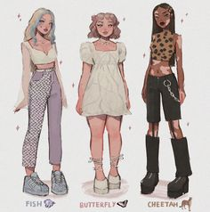 Cute Art Styles, Cartoon Art Styles, Fashion Design Drawings, Fashion Sketches, Anime Outfits, Cute Outfits, Clothing Sketches, Art Inspiration Drawing, Look Girl