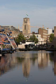 Laurens kerk water reflection Rotterdam Centre ,Rotterdam , The Netherlands