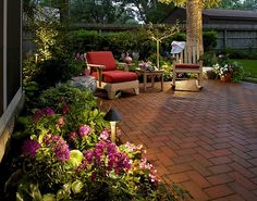 Brick patio - wish this was at my home!