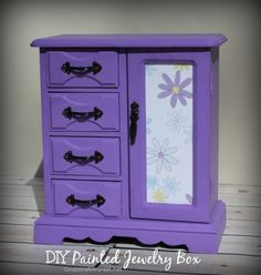 DIY Painted jewelry box painting ideas - would a large one work for an AG doll closet??