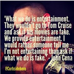 I love pro wrestling and always have. Keep your soap operas & reality shows, I'll have sports entertainment any day of the week.