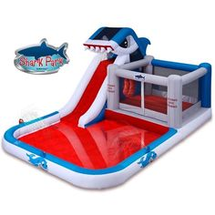 Shark Park Water Slide and Bounce House