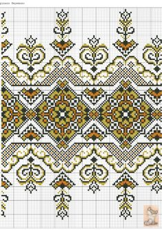 Gallery.ru / Фото #104 - схемы для рушников - anapa-mama Border Embroidery Designs, Folk Embroidery, Cross Stitch Embroidery, Embroidery Patterns, Cross Stitch Sampler Patterns, Cross Stitch Designs, Knitting Paterns, Knitting Charts, Cross Stitch Geometric