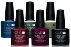 """CND Shellac """"Forbidden collection"""" Six stunning Autumn colours, to ease you into dark evenings. *Image Courtesy of Creative Nail Design Inc."""