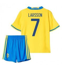 2016 2017 Sweden Home Mini Kit Larsson 7 Sports Online Shopping Sport Online, Football Kits, Kids Boots, Nye, Manchester United, Sweden, Mini, Swimwear, Shirts