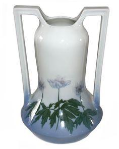 Porsgrund Art Nouveau Two Handled Vase