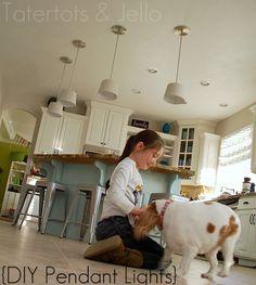 Make DIY Pendant Lights (Kitchen Remodel Project)! -- Tatertots and Jello