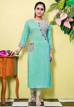 Printed Kurti Designs, Silk Kurti Designs, Simple Kurta Designs, Salwar Neck Designs, Kurta Neck Design, Tunic Designs, Dress Neck Designs, Kurta Designs Women, Kurti Designs Party Wear