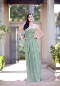 2015 Strapless/Halter Chiffon Ruched Sleeveless Floor Length Mother of the Bride Dresses MBD342