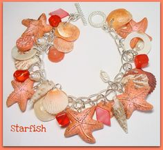 Polymer Clay Starfish & Florida Shell Bracelet | Flickr - Photo Sharing!