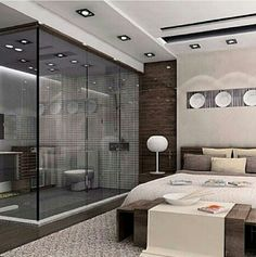 Magnificent Ultra Modern Ceiling Design In Your Bedroom If you are planning to renovate your bedroom interior then you should also decide a good ceiling design for your bedroom. Here are the best modern bedroom ceiling design for you. Best Home Interior Design, Beautiful Houses Interior, Modern Bedroom Design, Modern Bedrooms, House Beautiful, Bedroom Designs, Bedroom Ideas, Beautiful Beautiful, Bedroom Decor