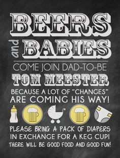 "Fun Diaper Keg invite for dads! Great idea for dad-to-be's to have a little fun before a lot of ""changes"" come his way! {Molly Meester Designs} mollymeesterdesigns.com"