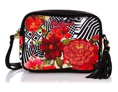 #Desigual Tasche - Modell CharlotteTsukiflo. Muster: floral, geometrisch, rot.