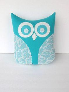 Teal home Decor | decorative owl pillow #HomeDecor