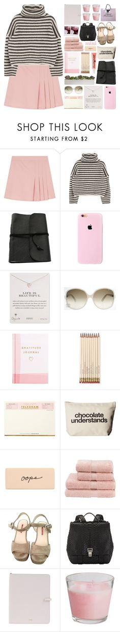 """""""School Life"""" by igedesubawa ❤ liked on Polyvore featuring Dogeared, Gucci, Thrive, Kate Spade, Soap & Glory, Christy, Prada, Proenza Schouler, Polaroid and Jil Sander"""