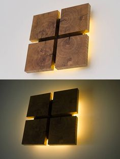 Wall lamp made of wood DECOR 87 handmade. Insert the plug-in lamp. wood Art - Wood decor lamps perfectly mix atmosphere flash and the beautiful natural decoration! Contains 8 LE - Wooden Wall Lights, Wooden Walls, Wall Wood, Wood Wall Design, Lamp Design, Design Design, Bedside Lamps Wood, Plug In Wall Lamp, Led Wall Lamp
